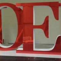 litery ze styroduru z licem z hipsu (lustro)