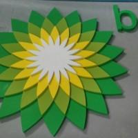logo ze styroduru, wykonane warstwowo (3D)