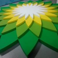 logo ze styrodoru, wykonane warstwowo (3D)