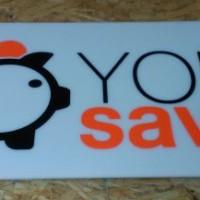 mleczna płyta plexi, logo wyklejone z folii