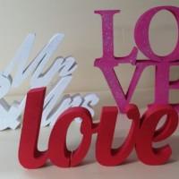 dekoracyjne napisy, dekoracja ślubna