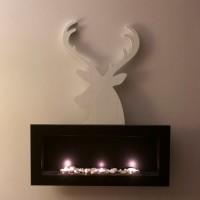 jeleń ze styroduru - dekoracja kominka