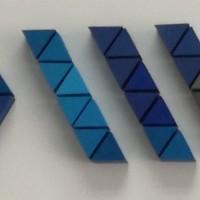 logo ze styroduru, malowane na wiele kolorów